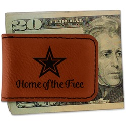 American Quotes Leatherette Magnetic Money Clip (Personalized)