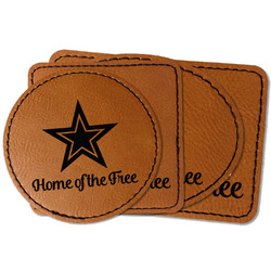 American Quotes Faux Leather Iron On Patch