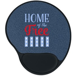 American Quotes Mouse Pad with Wrist Support