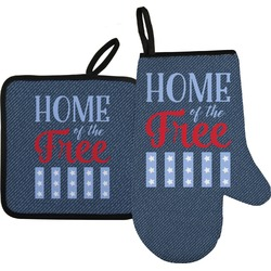 American Quotes Oven Mitt & Pot Holder (Personalized)