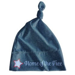 American Quotes Newborn Hat - Knotted (Personalized)
