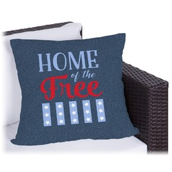 """American Quotes Outdoor Pillow - 18"""" (Personalized)"""