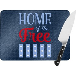American Quotes Rectangular Glass Cutting Board (Personalized)
