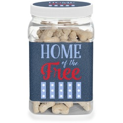 American Quotes Pet Treat Jar (Personalized)