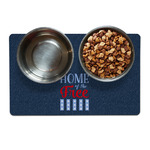 American Quotes Pet Bowl Mat (Personalized)