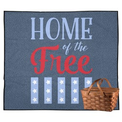 American Quotes Outdoor Picnic Blanket (Personalized)