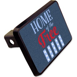 """American Quotes Rectangular Trailer Hitch Cover - 2"""" (Personalized)"""