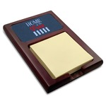 American Quotes Red Mahogany Sticky Note Holder (Personalized)