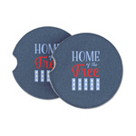 American Quotes Sandstone Car Coasters (Personalized)