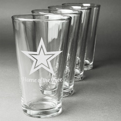 American Quotes Beer Glasses (Set of 4) (Personalized)