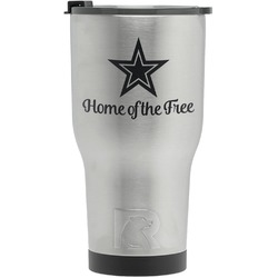 American Quotes RTIC Tumbler - Silver - Engraved Front (Personalized)