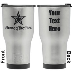 American Quotes RTIC Tumbler - Silver - Engraved Front & Back (Personalized)