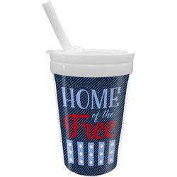 American Quotes Sippy Cup with Straw (Personalized)