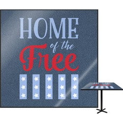 """American Quotes Square Table Top - 24"""" (Personalized)"""