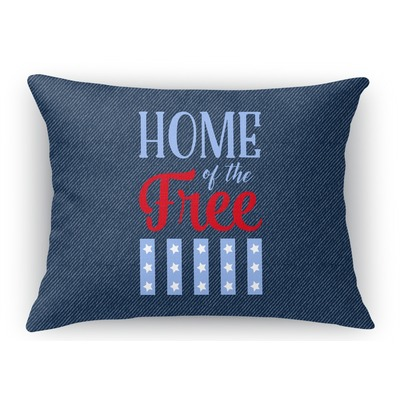 American Quotes Rectangular Throw Pillow Case (Personalized)