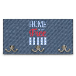 American Quotes Wall Mounted Coat Rack (Personalized)