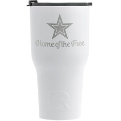 American Quotes RTIC Tumbler - White - Engraved Front (Personalized)