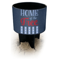 American Quotes Black Beach Spiker Drink Holder (Personalized)
