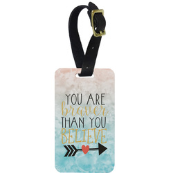 Inspirational Quotes Aluminum Luggage Tag (Personalized)