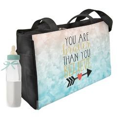 Inspirational Quotes Diaper Bag