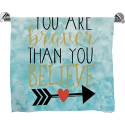 Inspirational Quotes Bath Towel