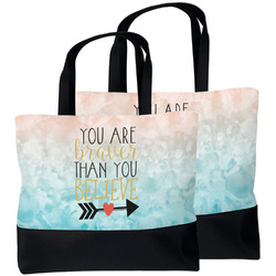 Inspirational Quotes Beach Tote Bag