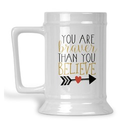 Inspirational Quotes Beer Stein (Personalized)