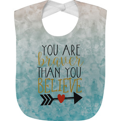 Inspirational Quotes Jersey Knit Baby Bib