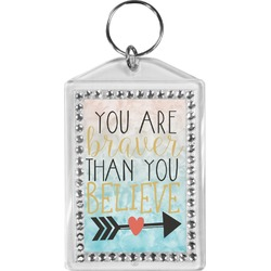 Inspirational Quotes Bling Keychain (Personalized)
