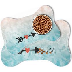 Inspirational Quotes Bone Shaped Dog Food Mat