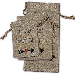 Inspirational Quotes Burlap Gift Bags