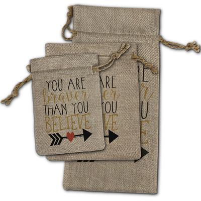 Inspirational Quotes Burlap Gift Bags
