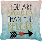 Inspirational Quotes Faux-Linen Throw Pillow