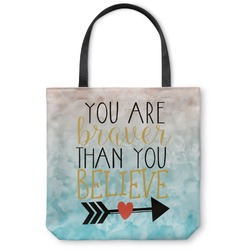 Inspirational Quotes Canvas Tote Bag (Personalized)
