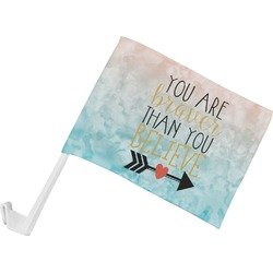 Inspirational Quotes Car Flag (Personalized)