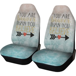 Inspirational Quotes Car Seat Covers (Set of Two) (Personalized)