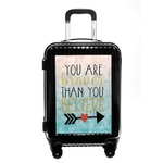 Inspirational Quotes Carry On Hard Shell Suitcase