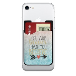 Inspirational Quotes Cell Phone Credit Card Holder (Personalized)
