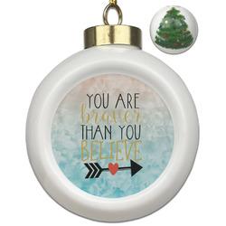 Inspirational Quotes Ceramic Ball Ornament - Christmas Tree