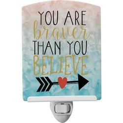 Inspirational Quotes Ceramic Night Light