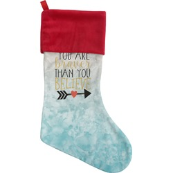 Inspirational Quotes Christmas Stocking (Personalized)