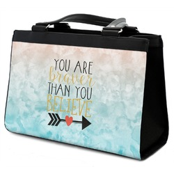 Inspirational Quotes Classic Tote Purse w/ Leather Trim (Personalized)