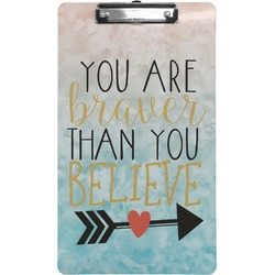 Inspirational Quotes Clipboard (Legal Size) (Personalized)