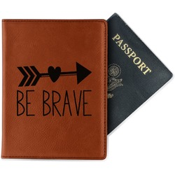 Inspirational Quotes Leatherette Passport Holder - Single Sided (Personalized)