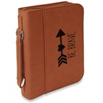Inspirational Quotes Leatherette Book / Bible Cover with Handle & Zipper (Personalized)