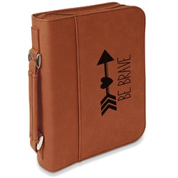 Inspirational Quotes Leatherette Book / Bible Cover with Handle & Zipper