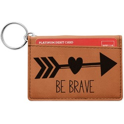 Inspirational Quotes Leatherette Keychain ID Holder (Personalized)