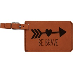 Inspirational Quotes Leatherette Luggage Tag (Personalized)