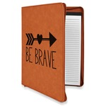 Inspirational Quotes Leatherette Zipper Portfolio with Notepad