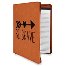 Inspirational Quotes Leatherette Zipper Portfolio with Notepad (Personalized)